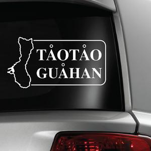 TaoTao Guahan White Sticker Decal