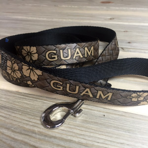 Guam Brown Hibiscus Dog Leash