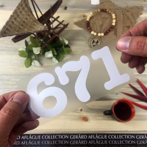 Guam Area Code 671 Sticker Decal