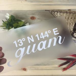 Coordinates of Guam Sticker Decal