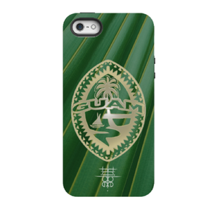 Tribal Guam Seal on Palm on All iPhone Models
