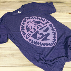 Light-Weight Guam Tribal Seal Ladies Purple Soft T-Shirt
