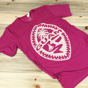 Light-Weight Guam Tribal Seal Ladies Berry Soft T-Shirt