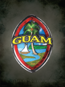 Textured Guam Seal Poster