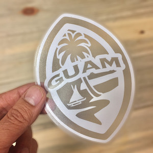 Small Modern Guam Seal Sticker Decal