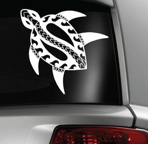 Tribal Turtle Sticker Decal (Guam, Hawaii, Tonga, Samoa, Philippines)