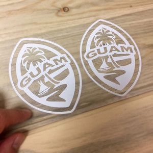 6-pc Small Modern Guam Seal Sticker Decal Set