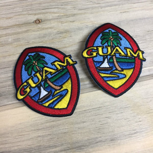 2-pc Modern Guam Seal Iron-on Patch