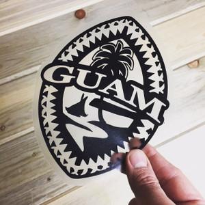 Black Tribal Guam Seal Sticker Decal - 6x5
