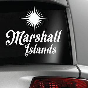 Marshall Islands Star Sticker Decal