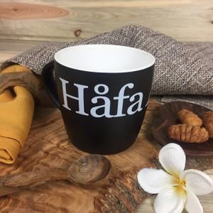 Hafa Adai Black and White Ceramic Mug - 10 oz