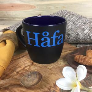 Hafa Adai Black and Blue Ceramic Mug - 10 oz