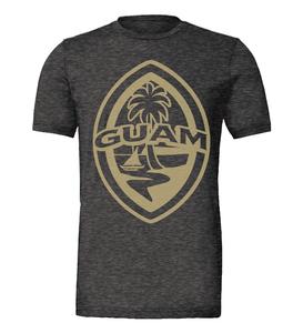 Modern Guam Seal Charcoal Black Triblend T-Shirt