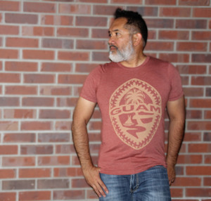 Tribal Guam Seal Clay Brown Triblend T-Shirt