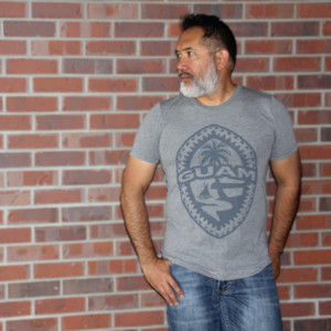 Tribal Guam Seal Gray Triblend T-Shirt