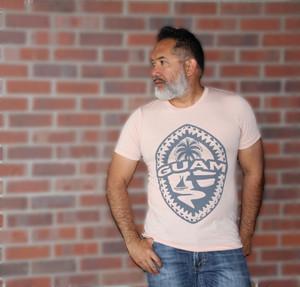 Tribal Guam Seal Peach Triblend T-Shirt