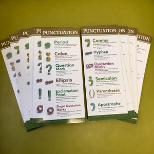 Punctuation Student Prompt Cards and Bookmarks- 35 pcs