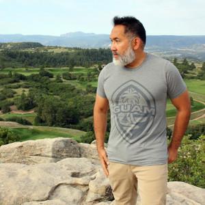 Modern Guam Seal Gray Triblend T-Shirt