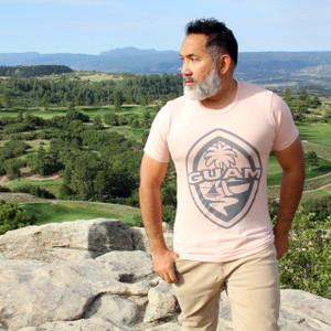 Modern Guam Seal Maroon Triblend T-Shirt