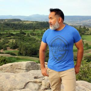 Modern Guam Seal Royal Blue Triblend T-Shirt