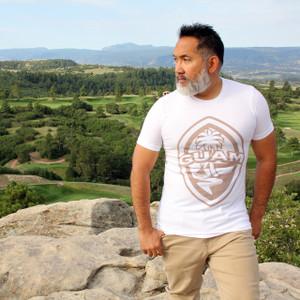 Modern Guam Seal White Triblend T-Shirt