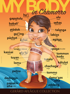 Teach Me My Body Parts in Chamorro - Female - Teacher Classroom Poster