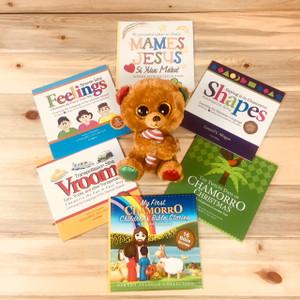 Plush Bear with Chamorro Books Gift Set
