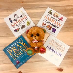 Samoan Children's Book Set and Plush Bear