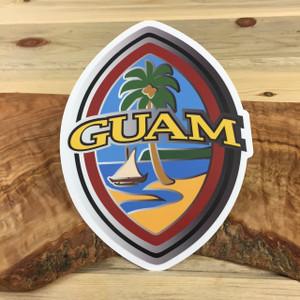 Modern Guam Seal 5x7 Inch Dope Decal