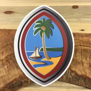 Modern Guam Seal Motif 5x7 Inch Dope Decal