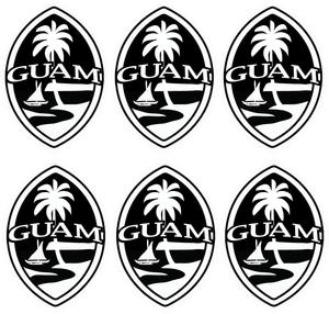 6-pc Value Pack Guam Seal Sticker Decal Set