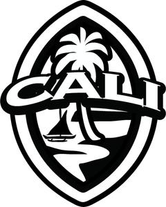 2-pc California Modern Guam Seal Sticker Decal Set