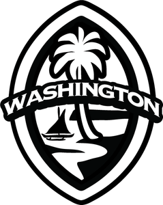 2 Pack Washington Modern Guam Seal Sticker Decal