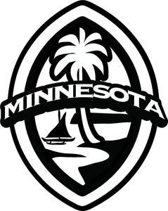 2-pc Minnesota Modern Guam Seal Sticker Decal Set