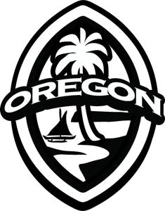 2 pc Oregon Guam Seal Sticker Decal Set