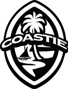 2 pc Coastie Guam Seal Sticker Decal Set