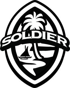 2 pc Solidier Modern Guam Seal Sticker Decal