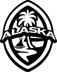 2 pc Alaska Modern Guam Seal Island Sticker Decal