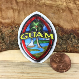 Textured Guam Seal Colored Dope Decal