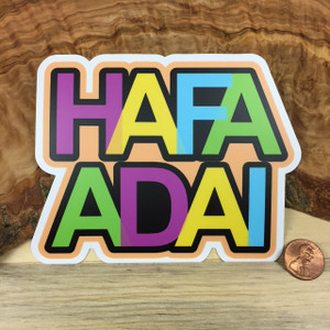 Hafa Adai Rainbow (Guam and CNMI) Colored Dope Decal