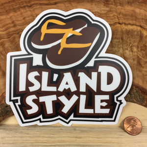 Island Styled Yori Flip Flop Colored Dope Sticker Decal