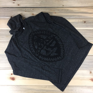 Tribal Guam Seal Unisex Charcoal Triblend Hoodie