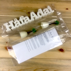 Unpainted Hafa Adai w/Palms Artist Kit
