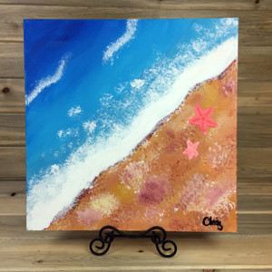 """""""Ocean Blue"""" Acrylic on Canvas Painting by Claire Aflague"""