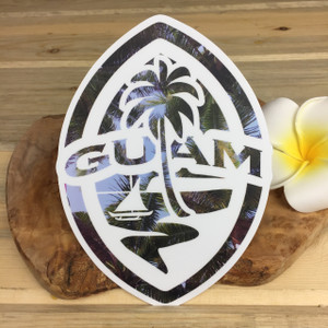 Modern Guam Seal Palm Fronds Dope Dope Decal