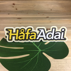 "Hafa Adai Sports Laptop and Car Sticker Decal - 11"" Wide"