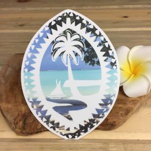 "Tribal Guam Seal Beach Sticker Dope Decal - 6"" Tall"