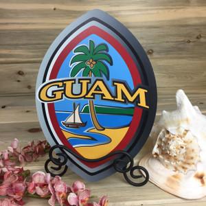 Modern Guam Seal Dope Table Top Decor - 9x13