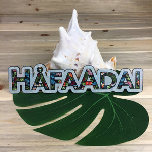 "Hafa Adai (Guam/CNMI) Floral Table Top Dope Decor - 12"" W"