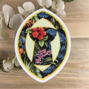 Hibiscus in Latte Sling Stone Decal (Guam and CNMI)